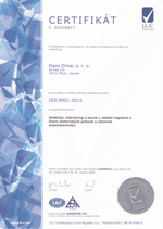 Certificate ISO-9001 - náhled
